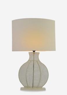 (LS) Ficaro Table Lamp - Cream Metal - M (19.5x10x31) CBM: 0.078