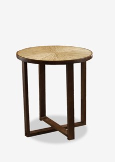 (SP) Habitat Round Dining Table w/ Sunburst Top (28x28x30)