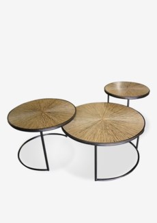 (LS) Habitat Loma Cocktail Table Set-3 (29.5x29.5x16 ; 25x25x18 ; 19.5x19.5x19.5)