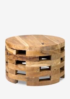 Open slat wooden coffee table (23.5x23.5x15)