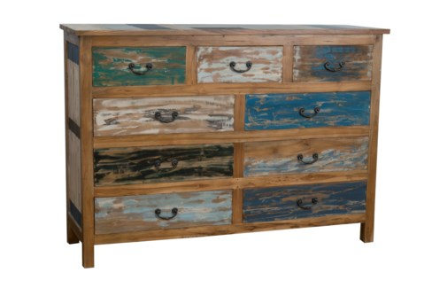 (LS) Macedon Dresser with 9 Drawers (59x18x42)