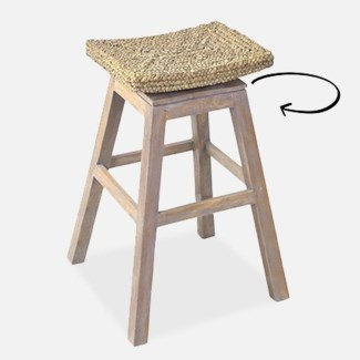 Sanibel Barstool - Grey Wash(18x18x29.5)