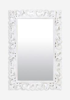(LS) Arc White Wash Wooden Mirror (47X2.4X31)
