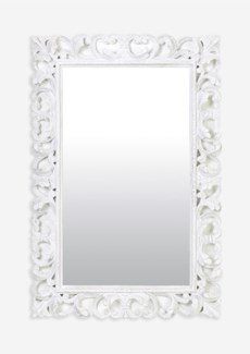 (LS) Arc White Wash Wooden Mirror (47X2.4X31)