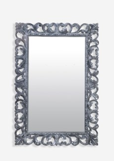 Arc Grey Wash Wooden Mirror (47X2.4X31)