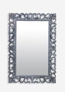 (LS) Arc Grey Wash Wooden Mirror (47X2.4X31)