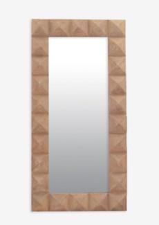 (SP) Pyramid Rectangle Wood Mirror-Balilook (39X4X79)