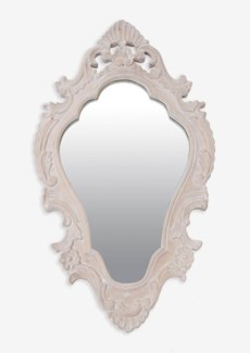 """(LS) Annabell 30"""" oval mirror -White ...."""
