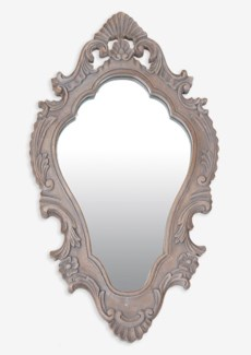 "(LS) Annabell 26"" oval mirror -Grey ...."
