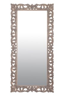"(LS) Antoinette 78"" rectangle Mirror L-Grey...."