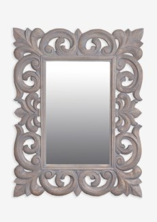 "(SP) Antoinette 31""H rectangle mirror- Grey...."