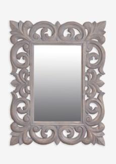 "(LS) Antoinette 31""H rectangle mirror- Grey...."