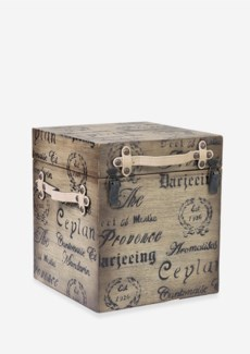 (LS) Ceylon vintage Trunk w/ storage ......