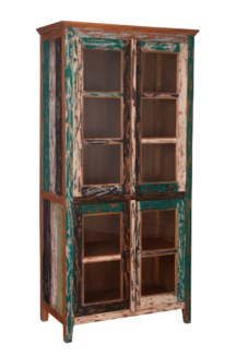 Fregata Tall Display Cabinet - Vintage Multicolor (36x19x74)