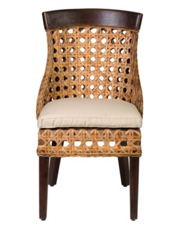 Sahara side chair w/ wood accent (22x25.5x37)