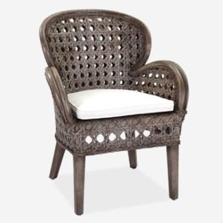 Sahara occasional chair - Grey Wash (27x27x37)