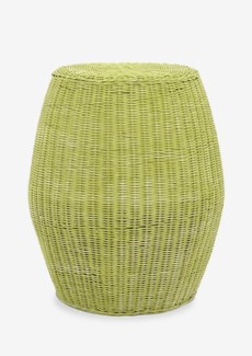 (LS) Caine Stool High-Green Wash (20X20X24)