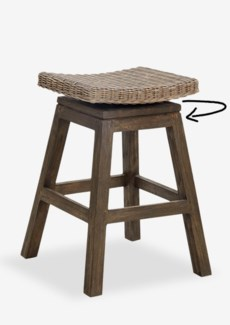 Carmen Counterstool-Grey Wash (17x17x24)