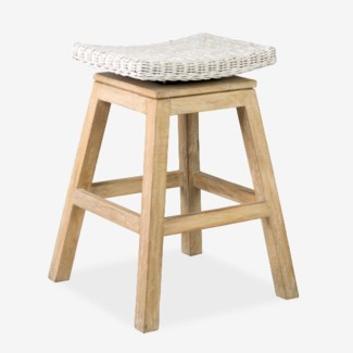 Carmen Counterstool-Aged White Finish(17X17X24)