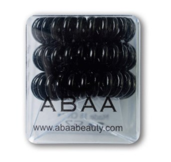 ABAA BLACK HAIR RINGS 3PK