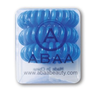 ABAA BLUE HAIR RINGS 3PK