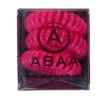 ABAA PINK HAIR RINGS 3PK