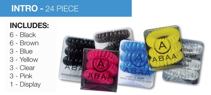 ABAA HAIR RINGS 24PC INTRO