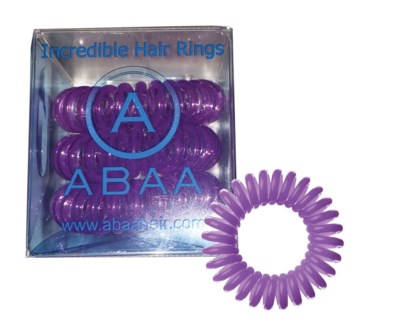 ABAA PURPLE HAIR RINGS 3PK
