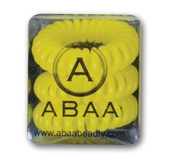 ABAA YELLOW HAIR RINGS 3PK FP