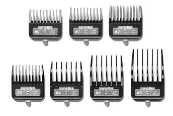 Master Metal Clip Combs 7PC