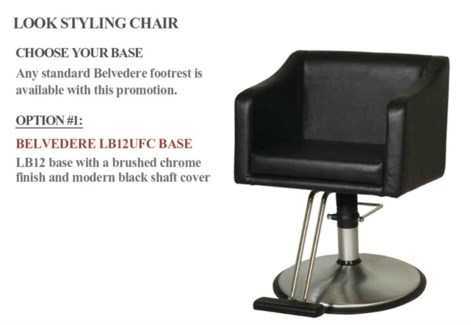 Styling Chair + Base # LB12UFC