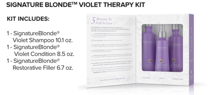 CP SignatureBlonde Violet Therapy Kit MJ