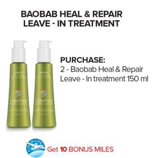 ! 2 150ml CP Baobab Leave In + AM JA18