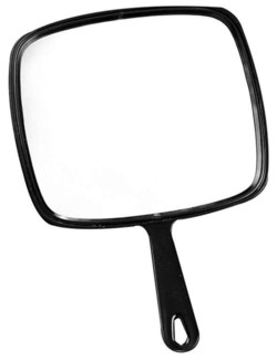 Hand Mirror Large Black BES0336BKUCC