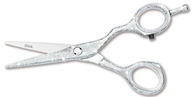 Jaguar 5.5 Diva White Glitter Scissors