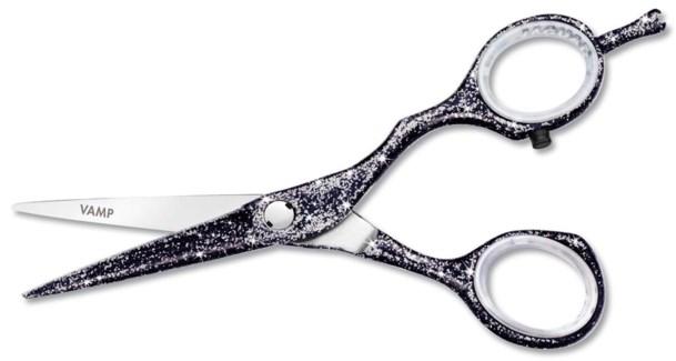 Jaguar 5.5 Vamp Black Glitter Scissors