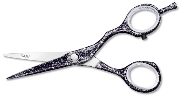 Jaguar 5.5 Vamp Black Glitter Scissors