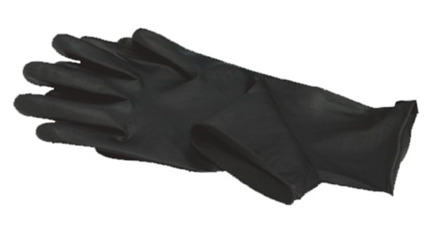 Large Black Satin Glove 2 Pair
