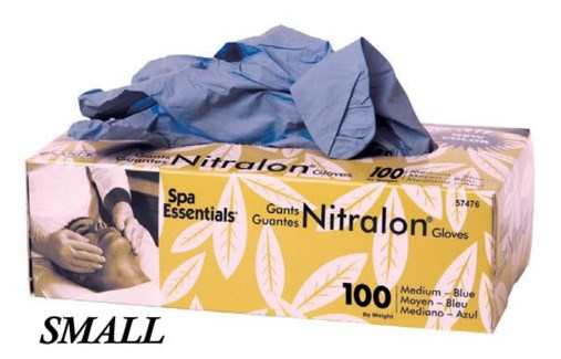 Blue Nitralon Gloves Small 100 Box