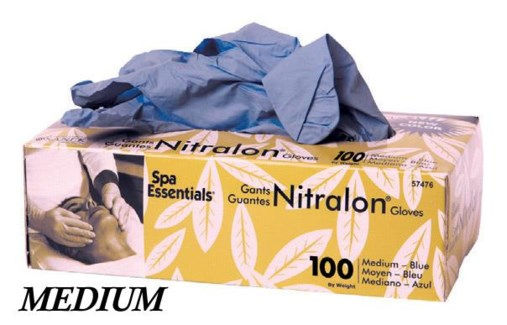 Blue Nitralon Gloves Medium 100 Box