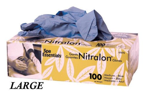 Blue Nitralon Gloves Large 100 Box