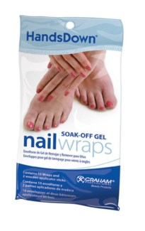 Handsdown Soak-Off Gel Nail Wraps 10Bag