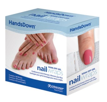 Handsdown Soak-Off Gel Nail Wraps 100Box
