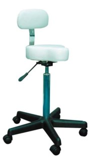 White Bicycle Seat Stool Hydrau