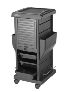 Deluxe Locking Black Trolley BES874LUCC