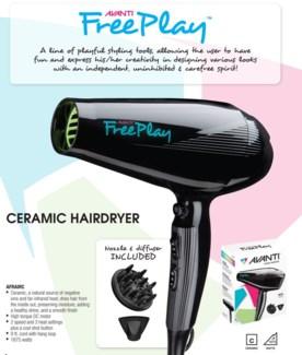 Avanti FREEPLAY Ceramic Hair Dryer