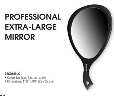 Oval Mirror XLarge Black