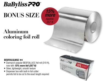 $ 357ft Roll Silver Light Foil WG