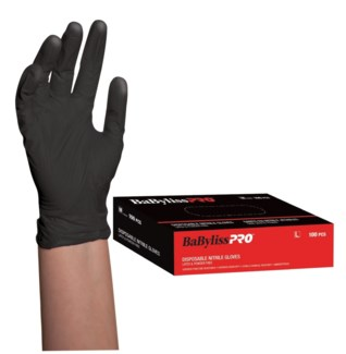 Nitrile Black Gloves 100Box LARGE
