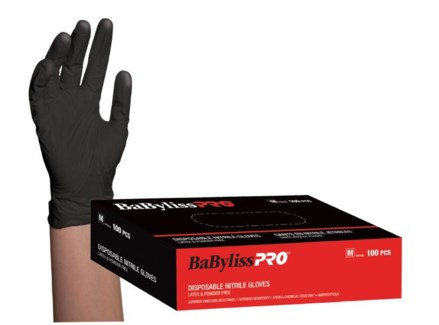Nitrile Black Gloves 100Box MEDIUM